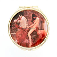 wooden hand mirrors lady cosmetic mirror makeup mirror with epoxy