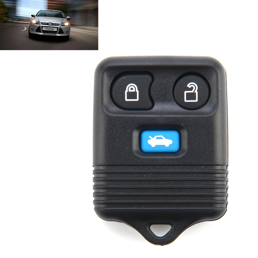 Get quotations 3 button remote key fob case for ford transit connect with blue button