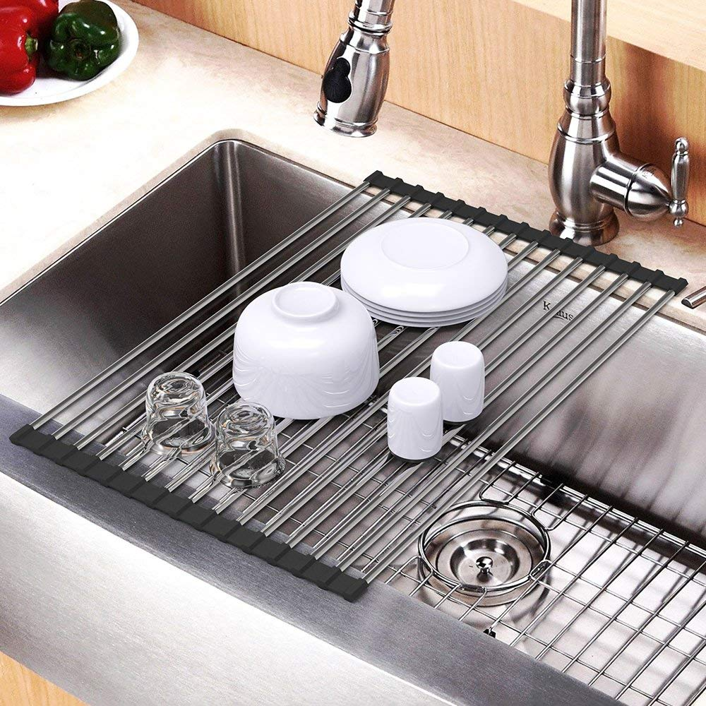 Dish Drying Rack Packetop Roll Up Over The Sink