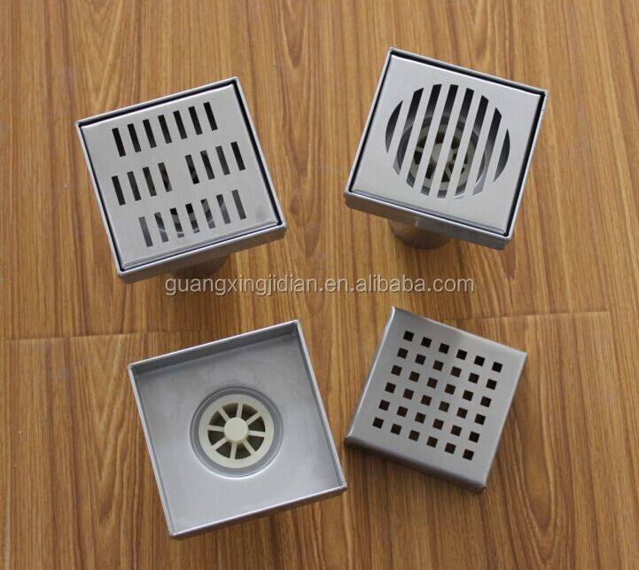 Exceptional Stainless Steel Square 5/6/4/8 Inch Drain Cover,shower Floor