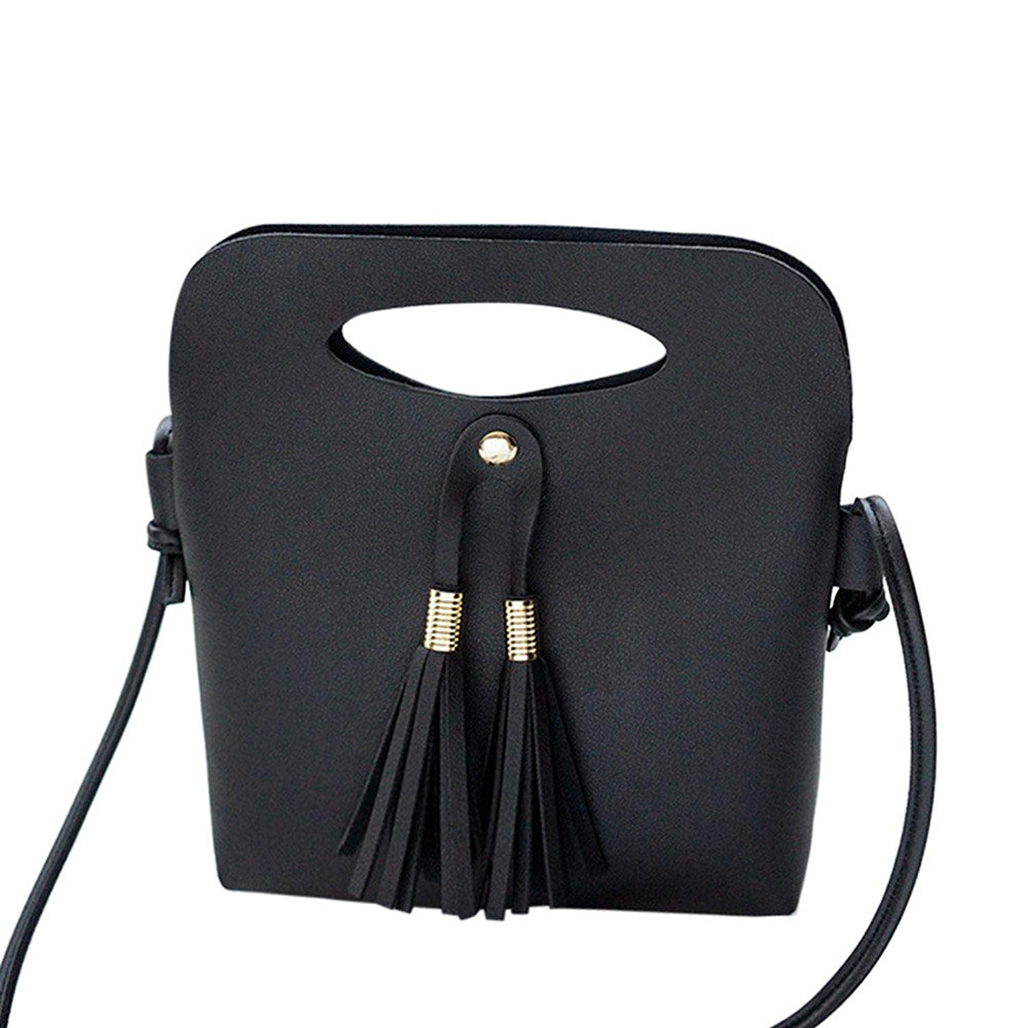 COOKI Womens Purses and Handbags Ladies Tassels Fashion PU Leather  Crossbody Handbags Designer Satchel Tote Bag a79008d93a