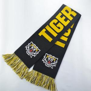 High quality Custom 100%acrylic football club knitted scarf
