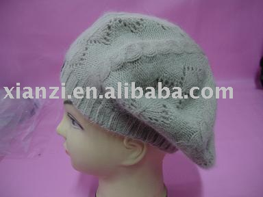 rabbit hair fur beret