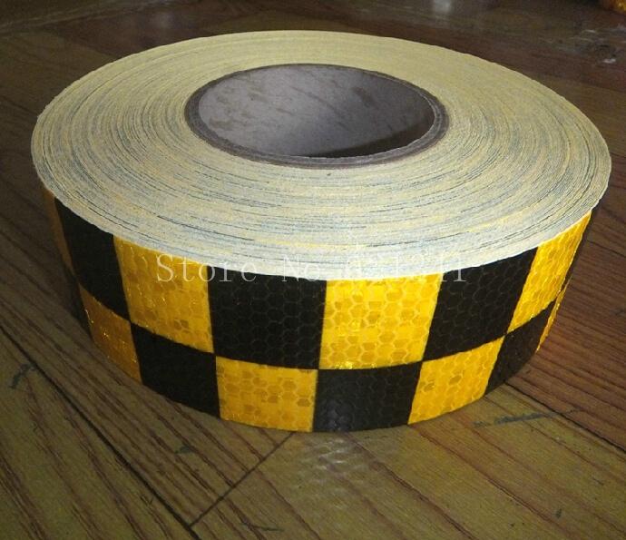 Выделите площадь алмазы внимание ленты светоотражающие предупреждение ленты 5 см * 10 м желтый и черный