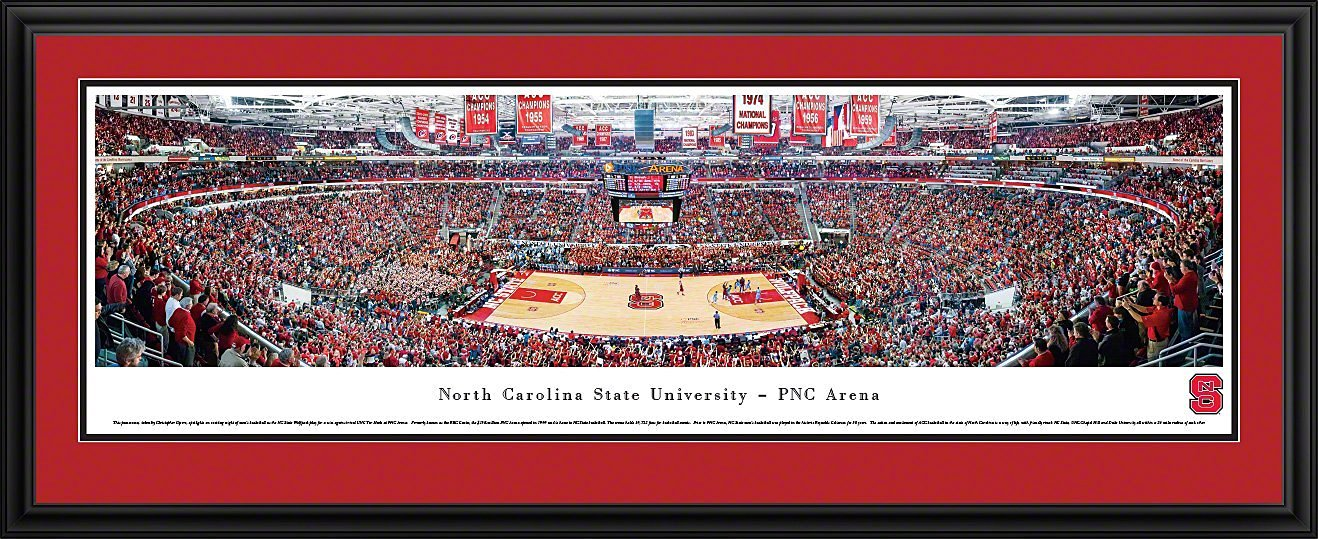 North Carolina State Wolfpack Basketball at PNC Arena - Blakeway Panoramas Print