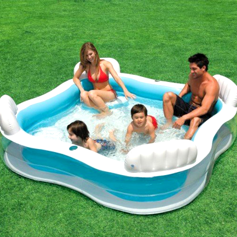 Playful Michigan Pool House: Large Size Family Inflatable Square Swimming Pool With
