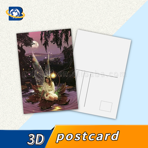 2018 New business gift design 3d lenticular greeting cards,glitter printing 3d postcard