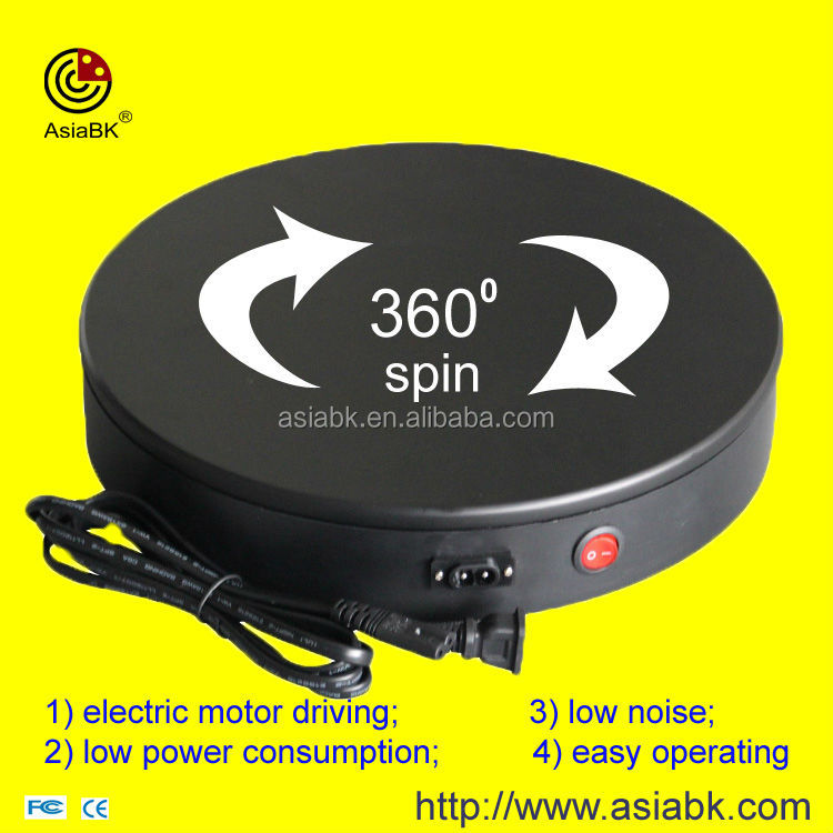 360 degree rotating display turntable stand / wooden craft boat rotating display base
