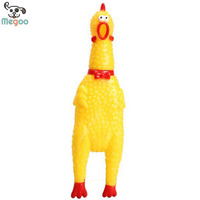 Rubber Yellow Chicken Pet Chew Squeaky Toys For Dog