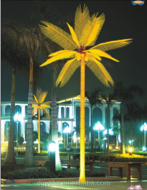 Large size LED outdoor artificial palm tree