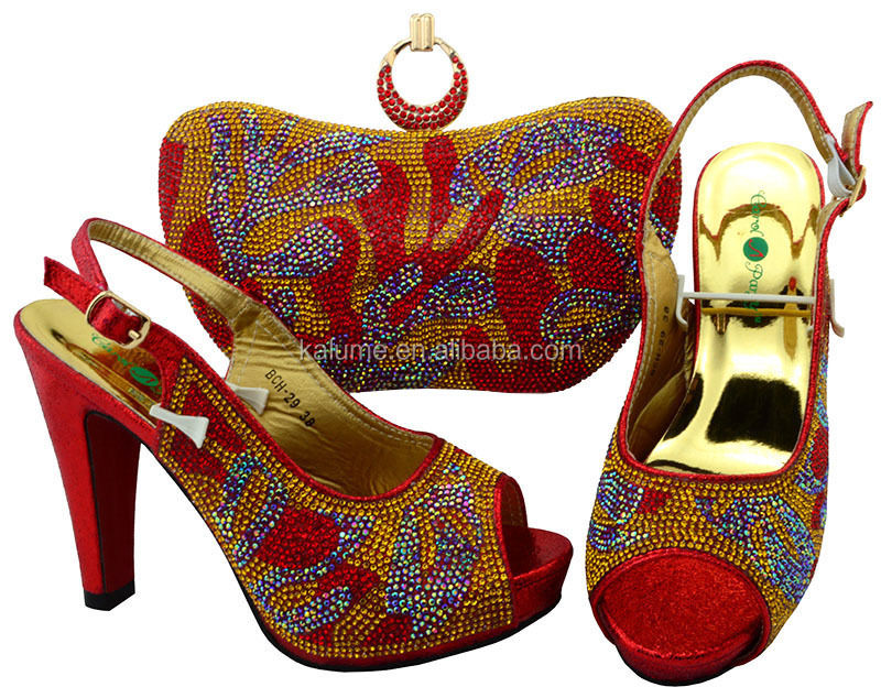 And Red Italian Set Shoes Fashion BCH Bags Bag 29 Latest With And Shoe Match Women In African Party For Matching Shoe Bag To P4xWwF6q