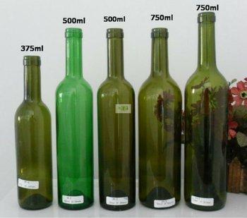 750ml 500ml 375ml wine bottles pu claret dark green color buy