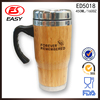 Promotional BPA free 16oz double wall insulated stainless steel mug with plastic lid