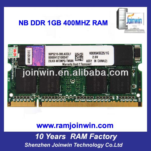 Computer manufacturing companies ram memory so dimm 1gb 400 pc3200