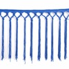 hot selling blue embroidered lace trim for ladies