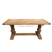 French country antique rustic recycled elm wooden table handcrafted wholesale dining table
