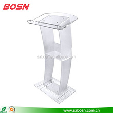High quality transparent acrylic portable podiums Perspex lectern for sale