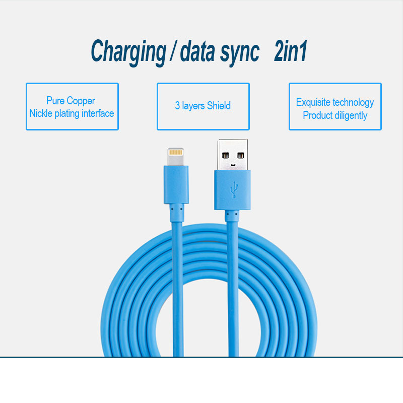 USB Charger Cords Mobile Phone Data Cable For iPhone 7