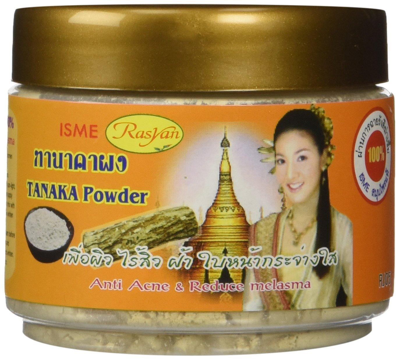 Isme Rasyan Thanaka Tanaka Powder 100% for Anti Acne & Reduce Melasma Natural Herbal 50g