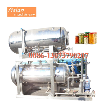 high temperature canned food Retort sterilizer/pouch food Water bath sterilization pot/meat tin can sterilizing machine