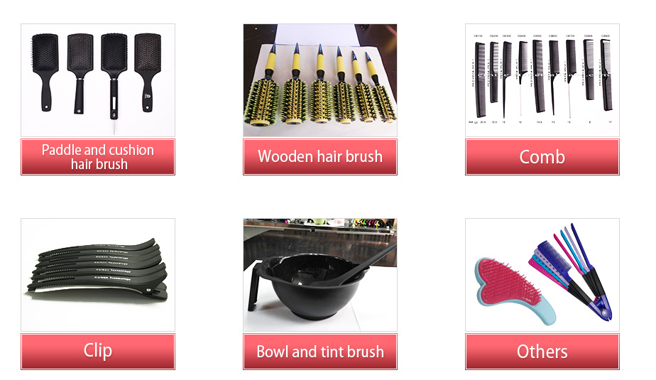 Salon professional plastic hair tinting color brush and dyeing tools wholesale