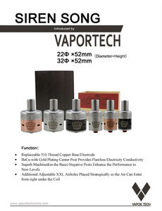 Vapor Tech 2015 New Siren Song Patriot RDA Atomizer