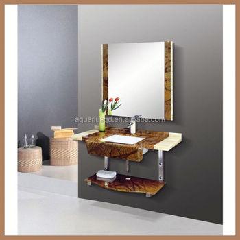 Aquarius Waterproof Wooden Double Modern Bathroom Vanity Mirror