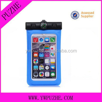 PVC drawstring mobile phone waterproof bag, PVC waterproof case