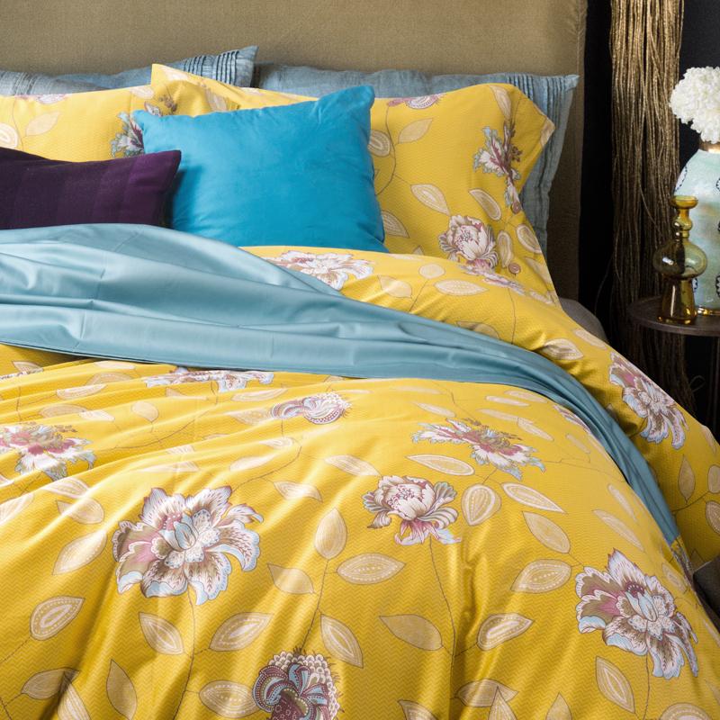 Online Get Cheap Yellow Duvet Cover Aliexpress Com