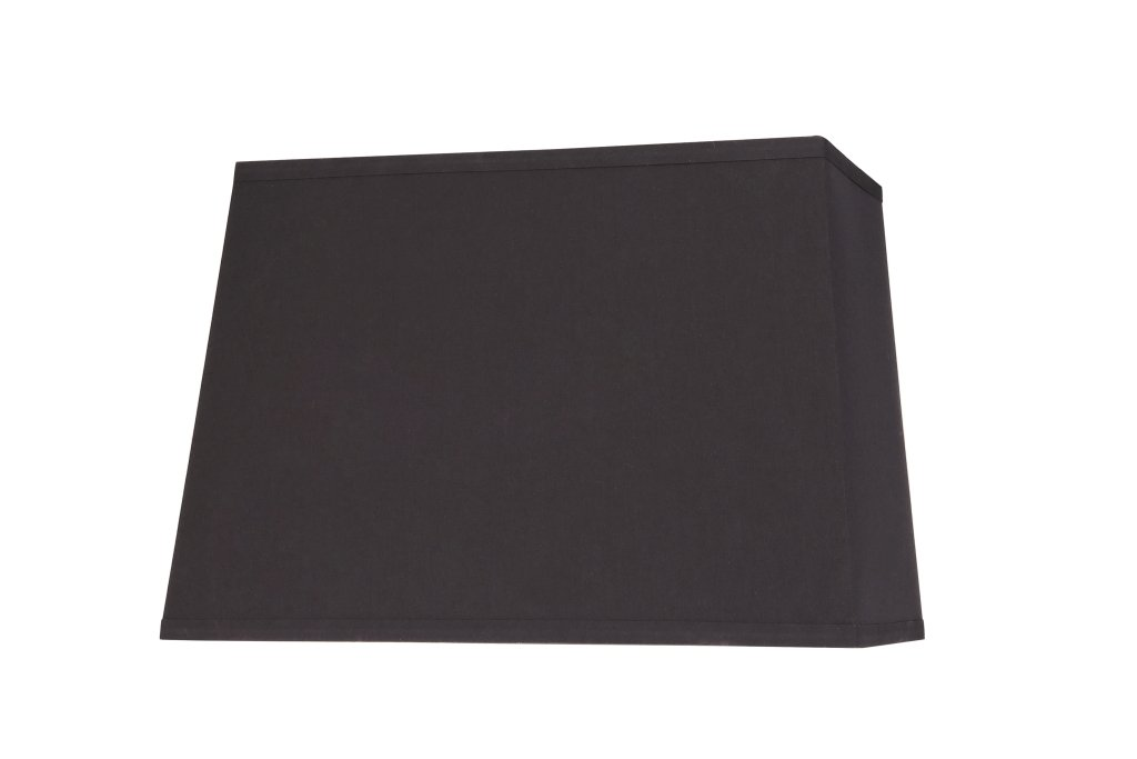 """Aspen Creative 36061 Transitional Rectangle Hardback Shaped Spider Construction Lamp Shade in Black, 16"""" + 9"""" Wide (14"""" + 7"""") x (16"""" + 9"""") x 11"""""""