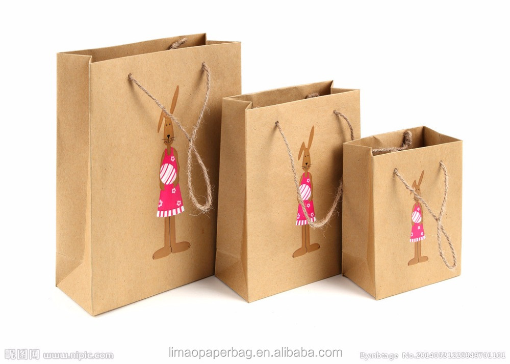 Luxury 100% Recycled Top Quality kraft paper bag for retail