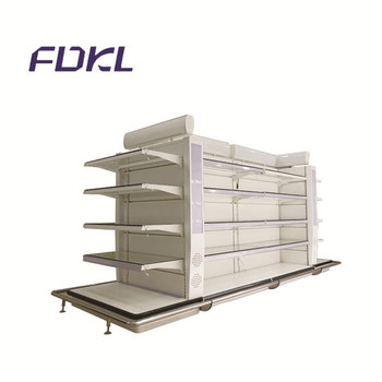 Hot LED cosmetics supermarket store display glass shelves for sale