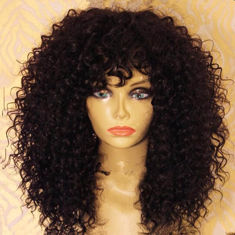 Virgin Brazilian Kinky Curly Full Lace Wig 12inch 14inch