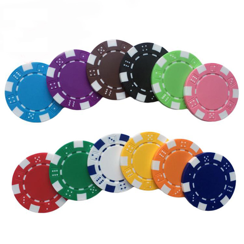 11.5g Casino Custom Plastic PS DOBBELSTENEN poker chips