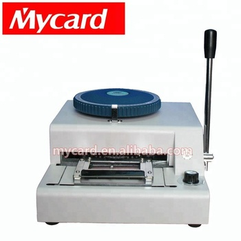 78 characters 2 in 1 PVC card embosser embossing and indenting machine