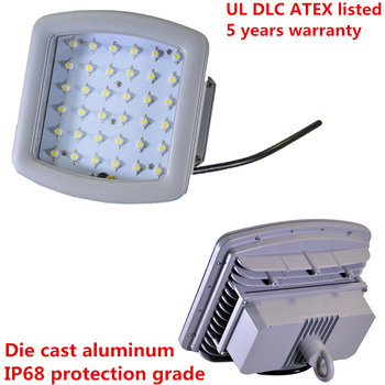 IP68 UL ATEX 40w led explosion-proof high bay lighting with 5 years warranty