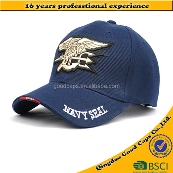 aba86447269 Navy Seal logo caps 3D embroidery sports hats cotton 6 panel baseball caps  and hats for