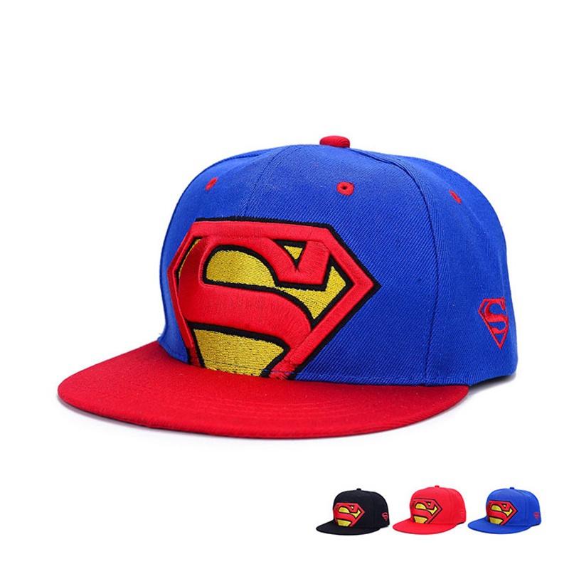b65d24d6047 Get Quotations · 2015 Fashion Superman Snapback Hats Cap Adjustable Men  Women Hip-Hop Baseball Cap Hats Flat