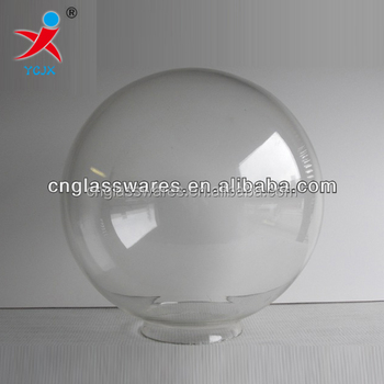 Mouth Blown Clear Glass Globe Lamp Shade Glass Ball