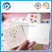 Square shape fashion creative greeting card
