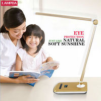 Dimmable CCFL reading/living room lamp table lamp ceramic base with desk lamp