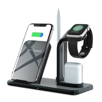 Tinderala Pencil Holder Stand 10W Fast Charging Qi Wireless Charger for IPhone 8 XS X XR Apple Watch 4 3 2 Airpods
