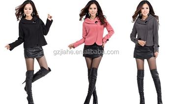 31a0dbeae Novo 2015 feminina outono inverno casacos de lã de moda senhoras curto de lã  casaco mulher