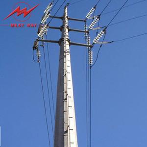 69kv galvanized electric pole parts steel pole material