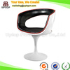 (SP-HC073) Modern Elegant Black Red Leather Tulip Chair for Sale