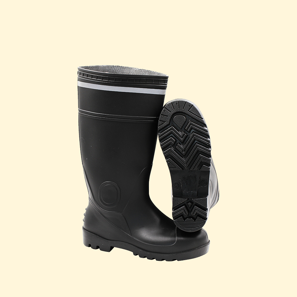 men pvc plastic work boots waterproof steel toe work gum agriculture boots for sale