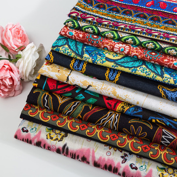 Ethnic style batik printed Floral fabric about South Africa and Russia for DIY cloth and table