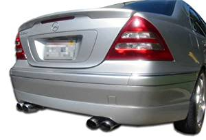 2001-2004 Mercedes C Class W203 Duraflex CR-S Rear Lip Under Spoiler Air Dam (non sport package) - 1 Piece (Clearance)