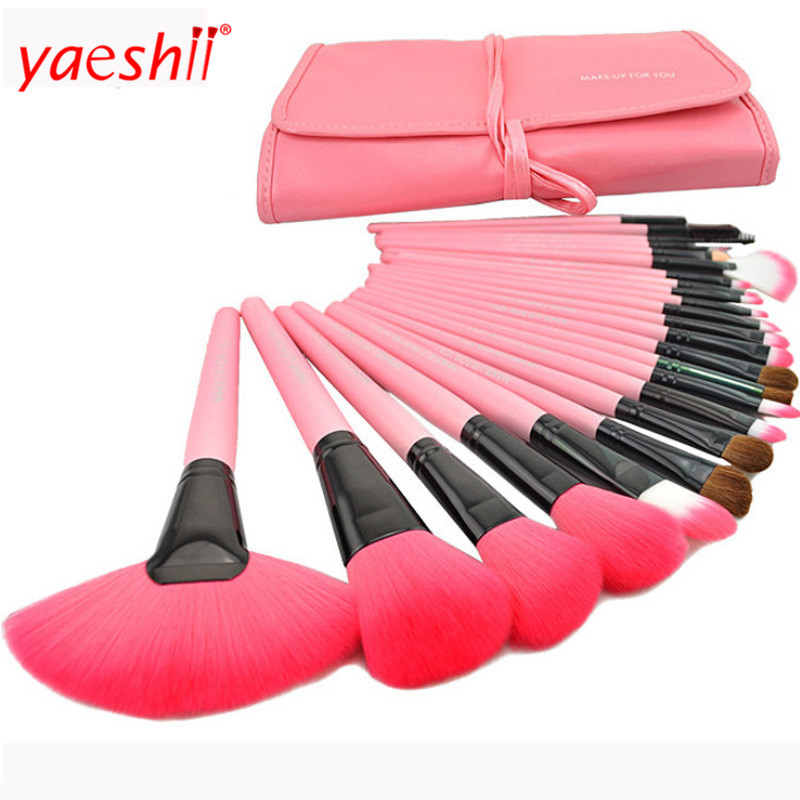 New Year Holiday Wholesale Women's Cosmetic Tool Kit 24pcs Makeup Brush from Yaeshii