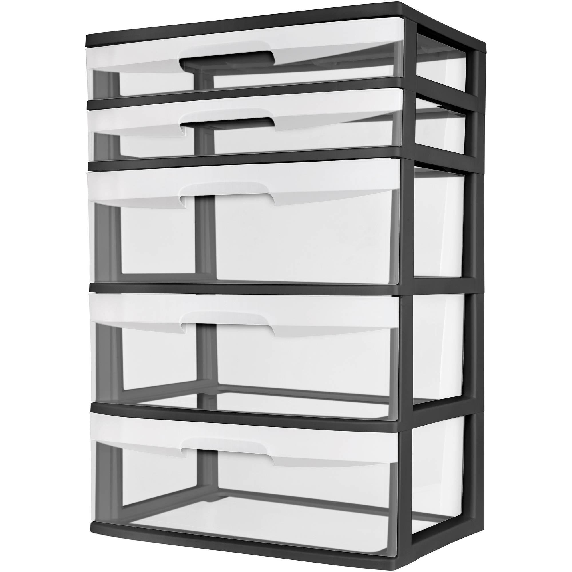 drawers black sterilite drawer com plastic walmart ip tower storage